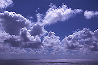 White clouds over ocean<br />