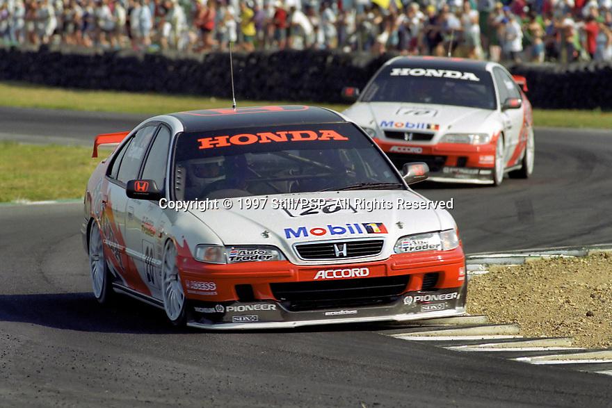 1997 British Touring Car Championship #20 Gabriele Tarquini (ITA). Team Honda Sport. Honda Accord.