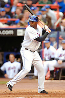 3 April 2006: Cliff Floyd, outfielder for the New York Mets, at bat during Opening Day play against the Washington Nationals at Shea Stadium, in Flushing, New York. The Mets defeated the Nationals 3-2 to lead off the 2006 MLB season...Mandatory Photo Credit: Ed Wolfstein Photo..