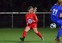 Woluwe's Taika De Koker (16) pictured during a female soccer game between  Racing Genk Ladies and White Star Woluwe on the seventh matchday of the 2020 - 2021 season of Belgian Scooore Womens Super League , friday 13 th of November 2020  in Genk , Belgium . PHOTO SPORTPIX.BE | SPP | DAVID CATRY