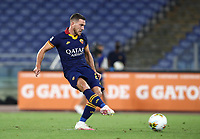 Football, Serie A: AS Roma - Hellas Verona Fc, Olympic stadium, Rome, July 15, 2020. <br /> Roma's Jordan Veretout kicks a penalty and scores during the Italian Serie A football match between Roma and Hellas Verona at Rome's Olympic stadium, on July 15, 2020. <br /> UPDATE IMAGES PRESS/Isabella Bonotto