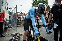 Wout van Aert (BEL/Jumbo-Visma) post-finish<br /> <br /> Men Elite Individual Time Trial <br /> from Knokke-Heist to Bruges (43.3 km)<br /> <br /> UCI Road World Championships - Flanders Belgium 2021<br /> <br /> ©kramon