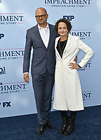 """LOS ANGELES, USA. September 02, 2021: Brad Simpson & Nina Jacobson at the premiere for FX's """"Impeachment: American Crime Story"""" at the Pacific Design Centre.<br /> Picture: Paul Smith/Featureflash"""