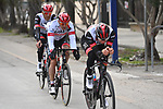 Tadej Pogacar (SLO) and UAE Team Emirates recon Stage 7 of Tirreno-Adriatico Eolo 2021, an individual time trial running 10.1km around San Benedetto del Tronto, Italy. 16th March 2021. <br /> Photo: LaPresse/Marco Alpozzi | Cyclefile<br /> <br /> All photos usage must carry mandatory copyright credit (© Cyclefile | LaPresse/Marco Alpozzi)