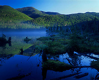 A calm morning at Lake Colden in the High Peaks Wilderness Area in the Adirondack Mountains in New York State