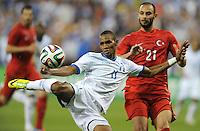 Washington, D.C.- May 29, 2014. Honduras forward Jerry Bengston.  Turkey defeated Honduras 2-0 during an international friendly game at RFK Stadium.