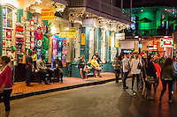 French Quarter, New Orleans, Louisiana.  Bourbon Street at Night.