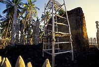 Historical Puuhonua Honaunau or City of Refuge,  an ancient Native Hawaiian temple, is a major tourist attraction on the Big Island of Hawaii.