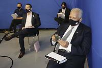 Campinas (SP), 01/10/2020 - Eleicoes/Debate - Nove candidatos a prefeito de Campinas (SP) se enfrentam nesta quinta-feira (01) no primeiro debate promovido pela Band. Alessandra Ribeiro (PCdoB), Andre Von Zuben (Cidadania), Artur Orsi (PSD), Dario Saadi (Republicanos), Delegada Teresinha (PTB), Dr. Helio (PDT), Rafa Zimbaldi (PL), Pedro Tourinho (PT) e Wilson Matos (Patriota) irao apresentar suas propostas e serao confrontados pelos seus adversarios. Esse grupo integra os partidos que tem cinco representantes no Congresso Nacional.<br />Na foto: Dr Helio - PDT (Foto: Denny Cesare/Codigo 19/Codigo 19)