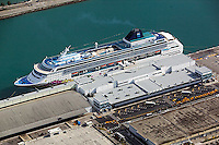 aerial photograph Norwegian Cruise Lines NCL Norwegian Sky ship docked Port of Miami Florida
