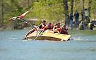 2010 Fisher Regatta, Knott boat capsizes...Photo by Matt Cashore/University of Notre Dame