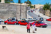 Fes, Morocco.  Street Scene from the Bab Mahrouk.