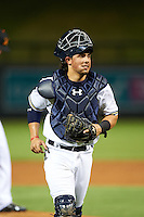 Salt River Rafters Jacob Nottingham (24), of the Milwaukee Brewers organization, during a game against the Peoria Javelinas on October 11, 2016 at Salt River Fields at Talking Stick in Scottsdale, Arizona.  The game ended in a 7-7 tie after eleven innings.  (Mike Janes/Four Seam Images)