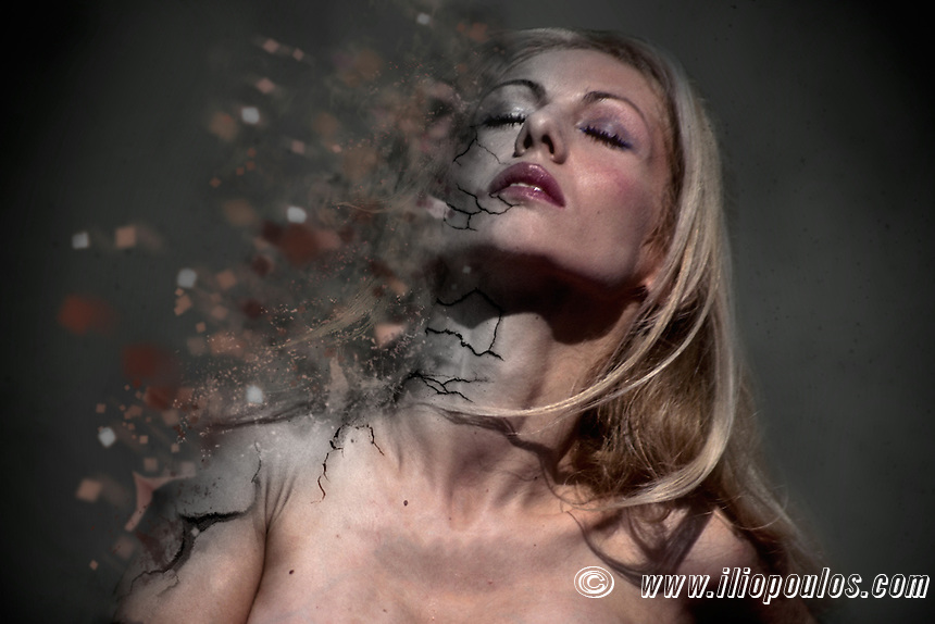 A beautiful woman's explosion