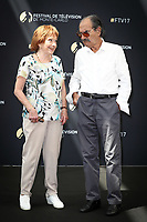 Gérard HERNANDEZ, Marion GAME - Photocall 'SCENES DE MENAGE' - 57ème Festival de la Television de Monte-Carlo. Monte-Carlo, Monaco, 17/06/2017. # 57EME FESTIVAL DE LA TELEVISION DE MONTE-CARLO - PHOTOCALL 'SCENES DE MENAGE'