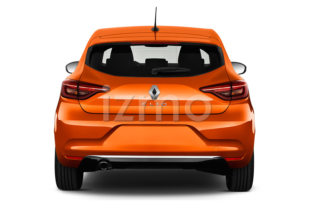 Straight rear view of a 2020 Renault Clio Edition One 5 Door Hatchback stock images