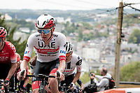 Tadej Pogačar (SVN/UAE-Emirates) up the infamous Mur de Huy<br /> <br /> 84th La Flèche Wallonne 2020 (1.UWT)<br /> 1 day race from Herve to Mur de Huy (202km/BEL)<br /> <br /> ©kramon