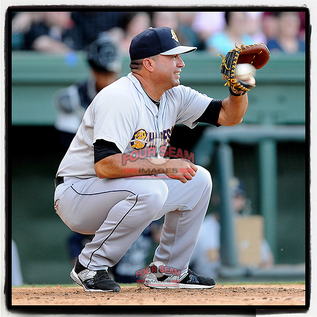 #OTD On This Day, May 21, 2015, Luis Dorante managed the Charleston RiverDogs in a game against the Greenville Drive at Fluor Field at the West End in Greenville, South Carolina. Previously he was the Florida Marlins bullpen coach in 2005 before joining the Pittsburgh Pirates staff. He also served in a string of Minor League managerial positions, including the Carolina Mudcats, Jupiter Hammerheads and Trenton Thunder. He is the current manager of the Pulaski Yankees. (Tom Priddy/Four Seam Images) #MiLB #OnThisDay #MissingBaseball #nobaseball #stayathome #minorleagues #minorleaguebaseball #Baseball #SallyLeague #AloneTogether