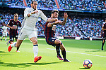 Real Madrid's player Gareth Bale and Eibar FC's player Ruben Peña Jimenez during a match of La Liga Santander at Santiago Bernabeu Stadium in Madrid. October 02, Spain. 2016. (ALTERPHOTOS/BorjaB.Hojas)