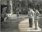 Premier Zhou Enlai during an impromptu inspection of the Changchun Film School. 22 August 1962.