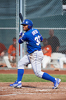 Kansas City Royals minor league outfielder Alexis Rivera #33 during an instructional league game against the San Francisco Giants at the Giants Baseball Complex on October 18, 2012 in Scottsdale, Arizona. (Mike Janes/Four Seam Images)