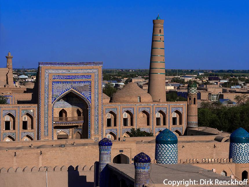 Blick vom Fort, Xiva, Usbekistan, Asien, UNESCO-Weltkulturerbe<br /> View from fortress, historic city Ichan Qala, Chiwa, Uzbekistan, Asia, UNESCO heritage site