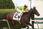 16 April 2011.  #2 Never Retreat and Shaun Bridgmohan win the 23rd running of the Jenny Wiley GRII $200,000 at Keeneland Racecourse.
