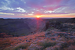 Sunset as viewed from the head of Big Indian Gorge on Steens Mountain in Oregon, USA