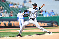 Jackson Generals starting pitcher Alex Young (36) delivers a pitch during a game against the Tennessee Smokies at Smokies Stadium on April 11, 2018 in Kodak, Tennessee. The Generals defeated the Smokies 6-4. (Tony Farlow/Four Seam Images)