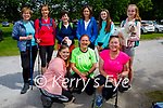 Ready for a stroll around Muckross Gardens on Sunday, Kneeling l to r: Jackie Holland, Martina Cahill and Bernie Gratton. Back l to r: Mary Murphy, Fiona Kennelly, Carmel Boyle, Marie Moylan, Toni Commerford and Clodagh Moylan with Lola the dog.