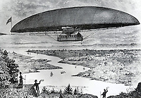 The Electro-Dynamic Airship 1887 Artist Unknown