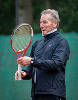 Hilversum, The Netherlands,  August 18, 2020,  Tulip Tennis Center, NKS, National Senior Championships, Men's single 80+ , Gerard Scholtes  (NED) <br /> Photo: www.tennisimages.com/Henk Koster
