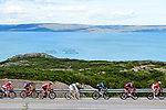 The peloton in action during Stage 1 of the 2018 Artic Race of Norway, running 184km from Vadso to Kirkenes, Norway. 16th August 2018. <br /> <br /> Picture: ASO/Gautier Demouveaux | Cyclefile<br /> All photos usage must carry mandatory copyright credit (© Cyclefile | ASO/Gautier Demouveaux)