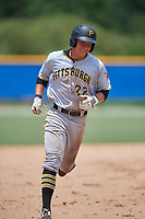 GCL Pirates first baseman Mason Martin (22) rounds the bases after hitting a home run in the top of the eighth inning, his second of the game, during a game against the GCL Blue Jays on July 20, 2017 at Bobby Mattick Training Center at Englebert Complex in Dunedin, Florida.  GCL Pirates defeated the GCL Blue Jays 11-6 in eleven innings.  (Mike Janes/Four Seam Images)