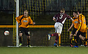 Stenny's Kevin McKinlay heads wide when it looked easier to hit the target.
