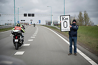 KM zero (aka 'the official start') is on a (closed for the occasion) dutch highway<br /> <br /> 109th Scheldeprijs 2021 (ME/1.Pro)<br /> 1 day race from Terneuzen (NED) to Schoten (BEL): 194km<br /> <br /> ©kramon