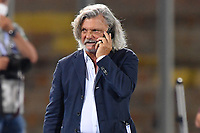 Massimo Ferrero chairman of UC Sampdoria walking on pitch prior of the Serie A football match between US Lecce and UC Sampdoria at Via del Mare stadium in Lecce ( Italy ), July 1st, 2020. Play resumes behind closed doors following the outbreak of the coronavirus disease. <br /> Photo Carmelo Imbesi / Insidefoto