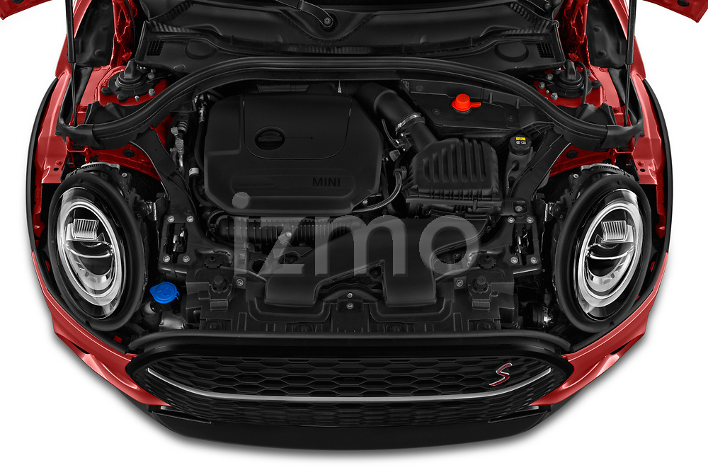 Car stock 2020 Mini Clubman S 5 Door Wagon engine high angle detail view