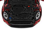 Car stock 2020 Mini Clubman S 5 Door Wagon engine high angle detail view
