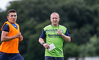 Assistant Manager Richard Dobson (right) & Luke O'Nien during the Wycombe Wanderers 2016/17 Pre Season Training Session at Wycombe Training Ground, High Wycombe, England on 1 July 2016. Photo by Andy Rowland / PRiME Media Images.