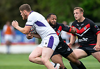 Dan Hindmarsh of London Broncos during the Betfred Championship match between London Broncos and Newcastle Thunder at The Rock, Rosslyn Park, London, England on 9 May 2021. Photo by Liam McAvoy.