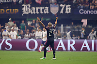 LAS VEGAS, NV - AUGUST 1: Luis Rodriguez #21 of Mexico reacts during a game between Mexico and USMNT at Allegiant Stadium on August 1, 2021 in Las Vegas, Nevada.