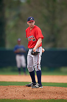 Atlanta Braves Brandon Cunniff (22) during an intrasquad Spring Training game on March 29, 2016 at ESPN Wide World of Sports Complex in Orlando, Florida.  (Mike Janes/Four Seam Images)