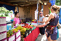 The rundown flea market in Algiers