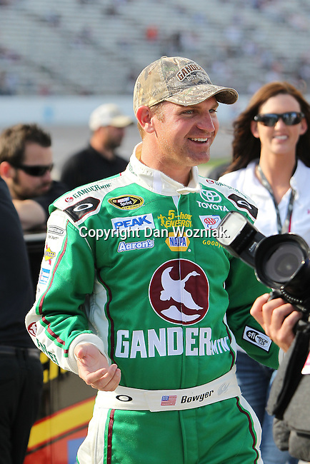 Sprint Cup Series driver Clint Bowyer (15) in action during the Nascar Sprint Cup Series qualifying session at Texas Motor Speedway in Fort Worth,Texas.