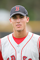 August 14, 2008: Derrik Gibson (2) of the GCL Red Sox. Photo by: Chris Proctor/Four Seam Images
