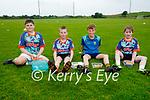 Having a break at the Abbeydorney GAA Cúl Camps on Monday, l to r: Eoin Hannon, Eoin Bradley, Eoghan Behan and Tom Slattery.