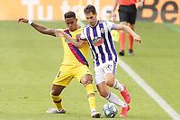 Real Valladolid's Javi Moyano (r) and FC Barcelona's Junior Firpo during La Liga match. July 11,2020. (ALTERPHOTOS/Acero)<br /> 11/07/2020<br /> Liga Spagna 2019/2020 <br /> Valladolid - Barcelona <br /> Foto Alterphotos / Insidefoto <br /> ITALY ONLY