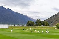 20th November 2020; John Davies Oval, Queenstown, Otago, South Island of New Zealand. New Zealand A versus  West Indies; wide view of the field of play as New Zealand bat