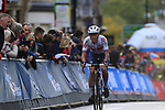 Jake Stewart (GBR) climbs Parliment Street on the Harrogate circuit during the Men U23 Road Race of the UCI World Championships 2019 running 186.9km from Doncaster to Harrogate, England. 27th September 2019.<br /> Picture: Eoin Clarke | Cyclefile<br /> <br /> All photos usage must carry mandatory copyright credit (© Cyclefile | Eoin Clarke)
